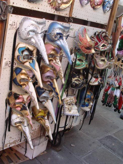 A stand selling Carnival Masks