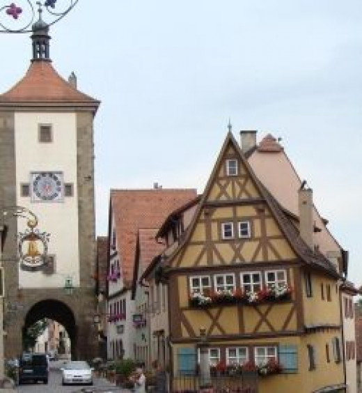 The Plonlein in Rothenburg, Germany