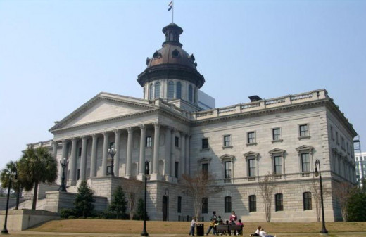 Statehouse located in Columbia, South Carolina