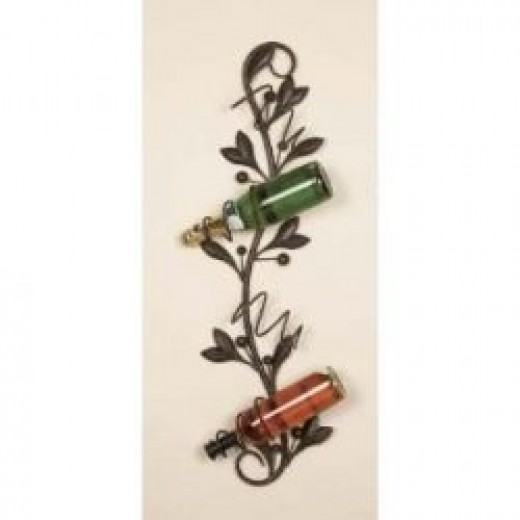 Metal wall wine rack pic