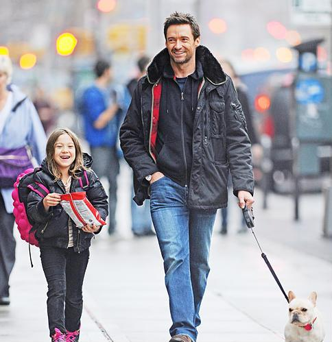 Hugh Jackman's Daughter with MadPax Backpack