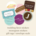 Zazzle party favor sticker quality