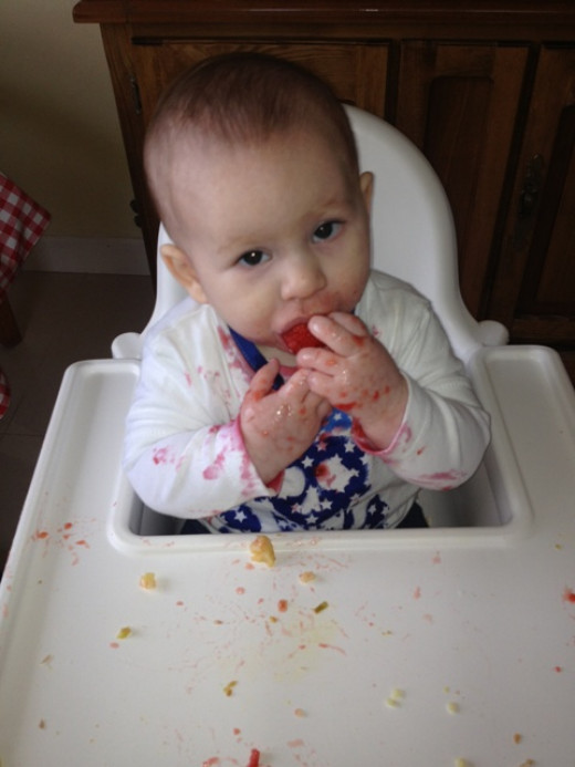 Our Baby Led Weaning journey: Strawberry