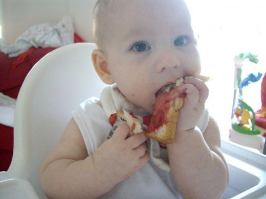 Our Baby Led Weaning journey: Strawberry sandwich