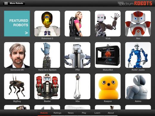IEEE Robots iPad App