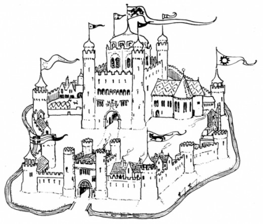 Picture of a Castle to Color