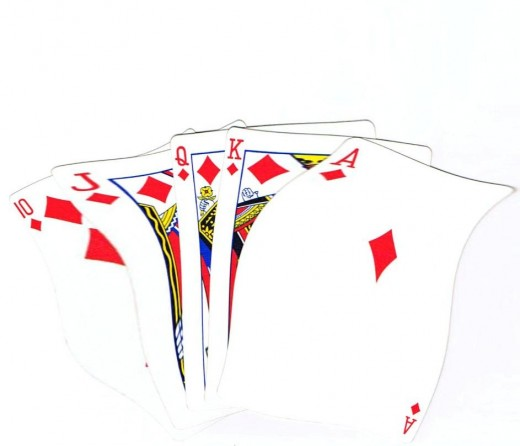 Royal flush clip art with ripple effect