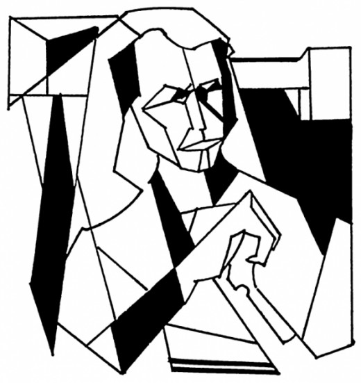 Cubism Coloring Page