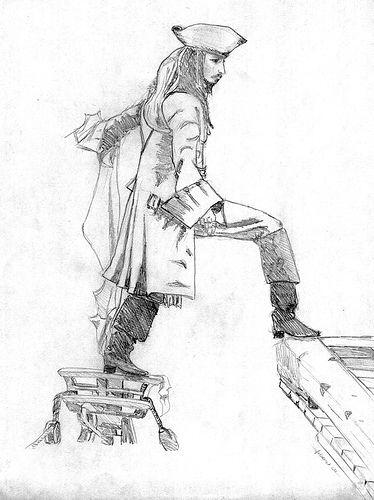 Jack Sparrow Coloring Page
