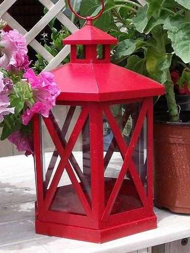 Red Garden Lantern