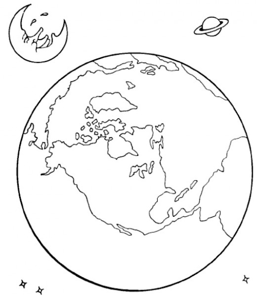 Outer space coloring pages rockets shuttles ufos and more for Outer space coloring page