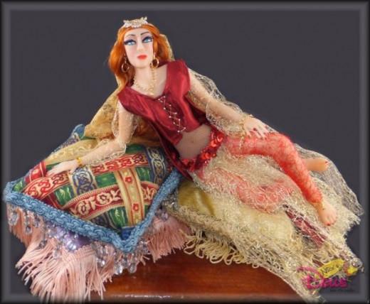 OOAK polymer clay doll, Leila