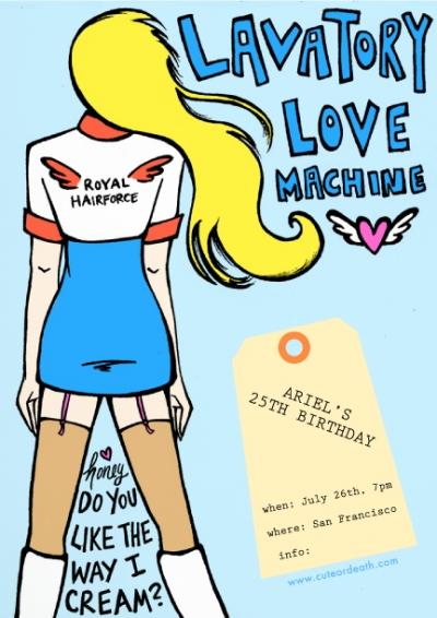 Lavatory Love Machine flyer