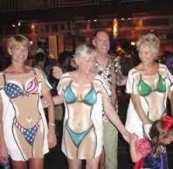 Have a Tshirt Bikini Contest by The Pool