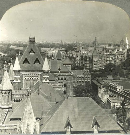 From Clock tower Looking Noth Bombay