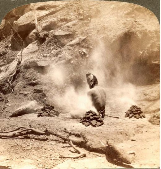 Gem lake doing penance-Exposed sun and intense fire - mt.abu
