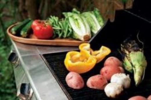 veggies on grill