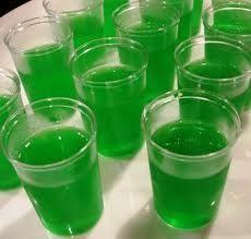 green jello shots