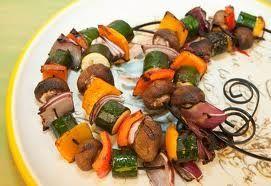 veggies on skewers