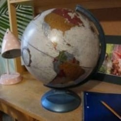 A World Map Globe Brings the World Together