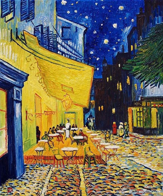 caffee and stars at night vincent van gogh painting