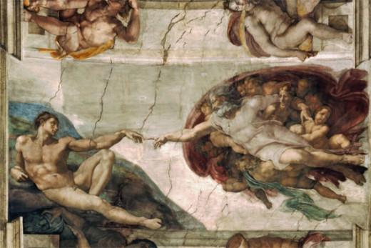 The Creation of Adam : Michaelangelo