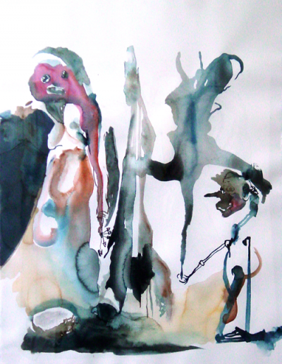 A shamanic rite Watercolor, made by Peter Stip, that's me ;-)