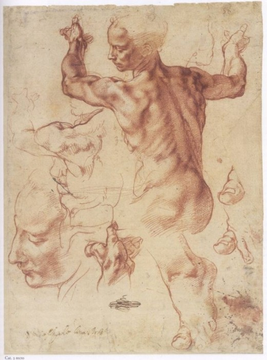 Study for one of the Sibyls on the Sistine Chapel - Michelangelo