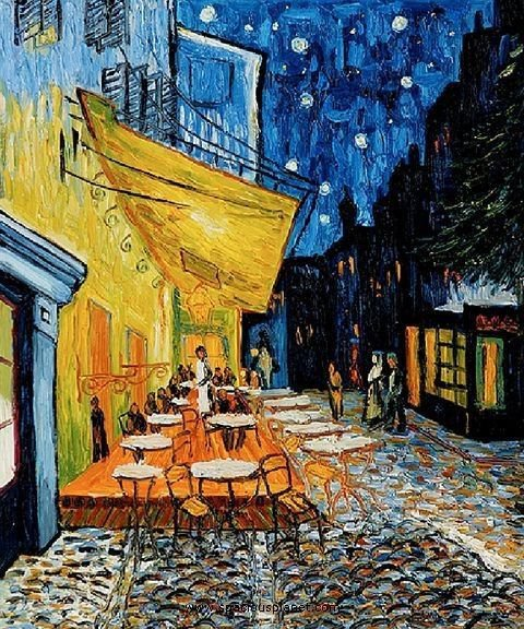 Famous Terrace at night by Vincent van Gogh