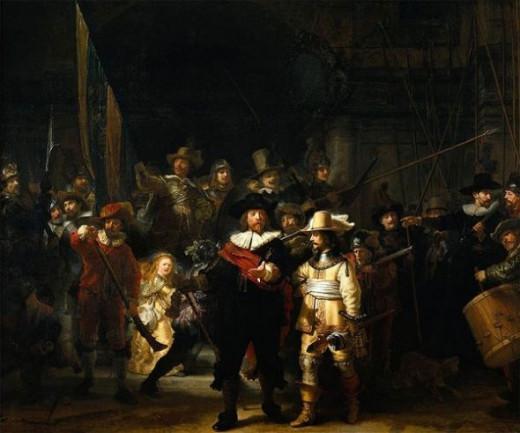famous nightwatch by Rembrandt van Rijn