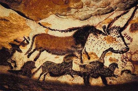 Cave paintings at Lasceaux France