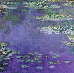 Claude Monet - A famous Purple Painting Water Lelies