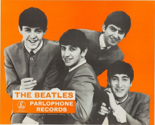 The Beatles Parlophone Records In-Store Promotional Poster UK, 1963-64