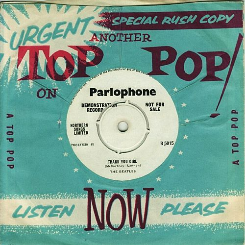 "Demo Copies of EMI Records Were Issued in ""Top Pop"" Sleeves. The Beatles ""From Me To You"" b/w ""Thank You Girl"" R 5015"