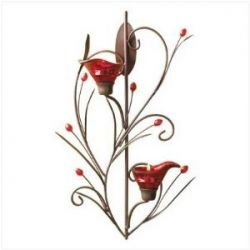 Ruby Blossom Tealight Candle Holder romantic dinner ideas with candles