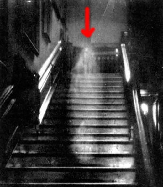 ghost who walks the stairs in the universe of space-time