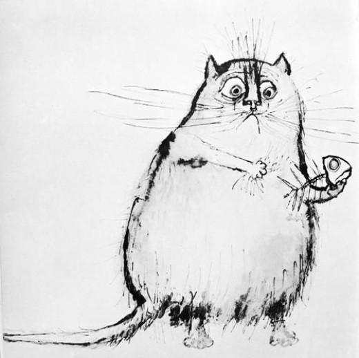a fat cat by ronald searle