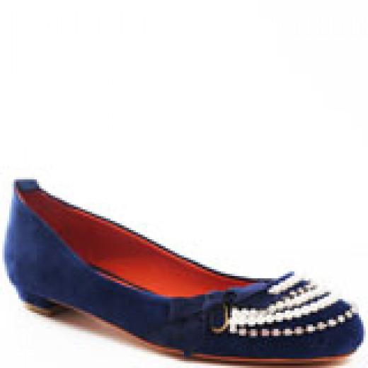 A standard flat, comfort shoe