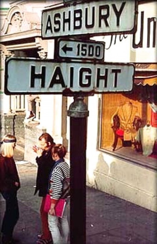 Haight Ashbury of San Francisco, the epicenter of the 60's.