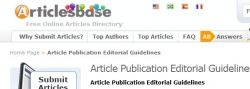 ArticlesBase is one of many Popular and Top Article Submission Sites