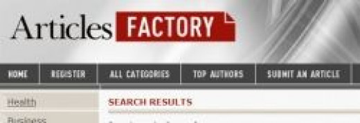 ArticlesFactory is an Easy-to-Use Article Directory, and You CAN use THIS Article Submission Site to Submit Your Articles. Click Here.