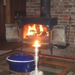 I wasn't kidding about preferring to sit around the fire instead of showshoeing in the dark.