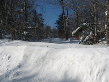 Kathy's Driveway - Which CLEARLY Shows Why We Go South For The Winter