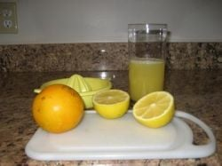 I've been having this morning lemon and orange juice for years! This blog section explains more...