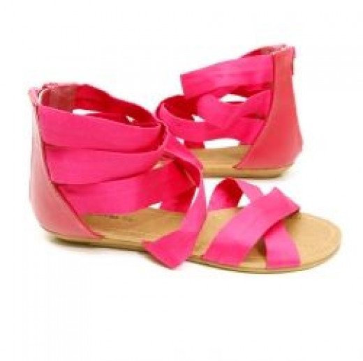 B.F.T. by Barefoot Tess Belgium Sandal (Hot Pink)