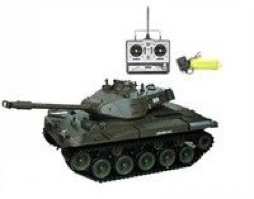 radio controlled tank that smokes