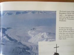 "Found this aerial photo of the Beardmore Glacier in a Readers's Digest book called ""Antarctica"""