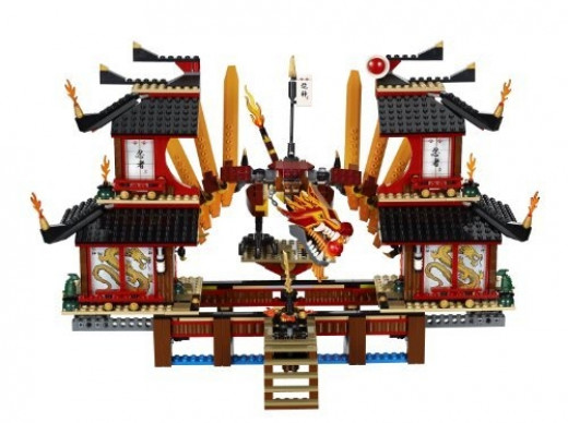 Ninjago Fire Temple - Open
