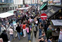 Portobello Road Market in Notting Hill, London England