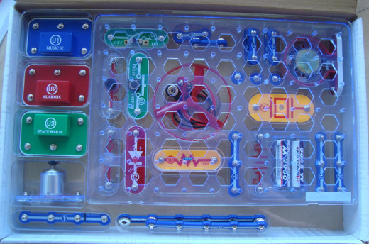 The pieces fit nicely back into the box after use so we know it's all there. (The batteries weren't included.)